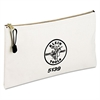 "Utility Zipper Bag, Canvas, White, 12 1/2"" Width, 7"" Height"
