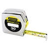 "Stanley Tools Powerlock Tape Rule, 1"" x 30', Plastic Case, Chrome, 1/16"" Graduation"