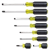 8-Piece Cushion-Grip Screwdriver Set, Cabinet/Keystone/Phillips
