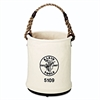 "Klein Tools Wall Bucket, Canvas, White, 15"" Height, 12"" Diameter"