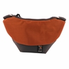Small Messenger Bag - Orange and Gray