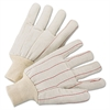 Anchor Brand 1000 Series Canvas Gloves, White, Large