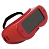 Anchor Brand Rigid Fixed-Front Goggles, Red Frame, Green Lens