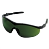 Crews Storm Safety Glasses, Black Frame, Green 3.0 Lens, Nylon/Polycarbonate
