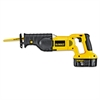 "DeWalt DC385K Cordless Reciprocating Saw Kit, 18V, 1 1/8"" Stroke, 0-3, 000 Strokes/Min"