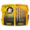 16-Piece Pilot Point Gold Ferrous Oxide Drill Bit Set