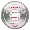 "LENOX 80T Circular Saw Blade, Steel-Cutting, 14"", 1"" Arbor, 1800rpm"