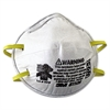 3M N95 Particulate Respirator, Half Facepiece, Small, Fixed Strap