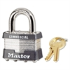 No. 1 Laminated Steel Pin Tumbler Padlock, 4 Pin