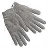 Memphis String Knit Gloves, Gray Cotton/Polyester, Large