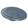 "Rubbermaid Commercial Round Brute Lid for 55 gal Waste Containers, 26 3/4"" Diameter, Gray"