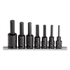"PROTO 7-Piece Hex-Bit Impact Socket Set, SAE, 1/2""-Drive, 1/4"" to 5/8"""