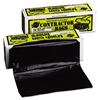 Warp's Heavyweight Contractor Bags, 36 x 56, 55gal, 3.0 Mil, Black