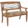 Gramercy Upholstered Bench, Light Brown