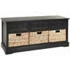 Damien 3 Drawer Storage Unit, Distressed Black