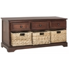 Safavieh Damien 3 Drawer Storage Unit, Dark Cherry