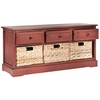 Safavieh Damien 3 Drawer Storage Unit, Red