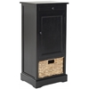 Safavieh Raven Tall Storage Unit, Distressed Black