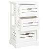 Samara 3 Drawer Cabinet, Distressed Cream
