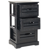 Safavieh Samara 3 Drawer Cabinet, Black