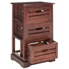 Safavieh Samara 3 Drawer Cabinet, Cherry