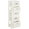 Sarina 5 Drawer Cabinet, Distressed Cream