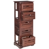 Safavieh Sarina 5 Drawer Cabinet, Cherry