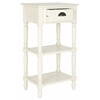 Chucky Accent Table With Storage, White