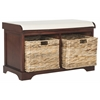Freddy Wicker Storage Bench, Cherry