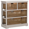 Jackson 4 Drawer Storage Unit, Quartz Grey/Cane Drawers