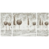Safavieh Tree Landscape 3 Pc Paintings, White/ Beige/ Gray