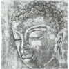 Buddha Black And White Painting, Black/ White