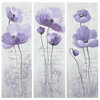 Safavieh Purple Poppy 3 Painting, Purple/ White