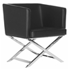 Celine Chair, Black / Chrome