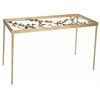 Rosalia Butterfly Desk, Antique Gold Leaf