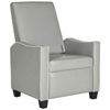 Holden Recliner Chair, Grey / White