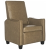 Safavieh Holden Recliner Chair, Tan  / Brown