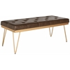 Marcella Bench, Brown / Gold