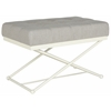 Safavieh Cara Bench, Light Grey / Cream