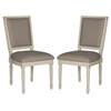 Safavieh Buchanan Rect Side Chair, Taupe