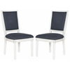 Safavieh Buchanan Rect Side Chair, Navy