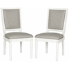 Safavieh Buchanan Rect Side Chair, Light Grey