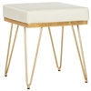 Safavieh Jenine Faux Ostrich Square Bench, Cream