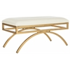 Moon Arc Bench, Creme / Gold