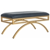 Moon Arc Bench, Navy / Gold