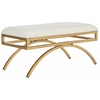 Safavieh Moon Arc Bench, Light Beige / Gold