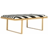 Millie Loft Bench/Coffee Table, Zebra / Gold