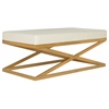 Alexes Bench, Creme / Gold