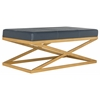 Alexes Bench, Navy / Gold