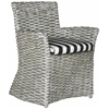 Cabana Arm Chair, Grey White Wash / Black & White Stripe